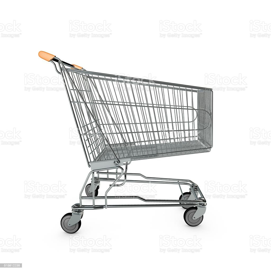 Shopping cart isolated on white stock photo