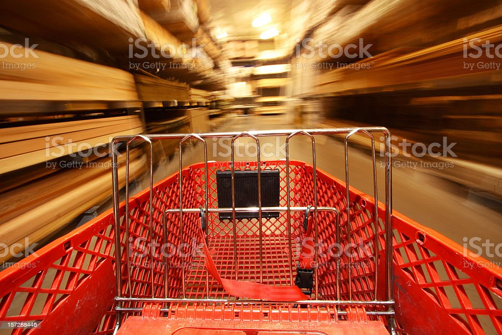 Shopping Cart On The Go stock photo