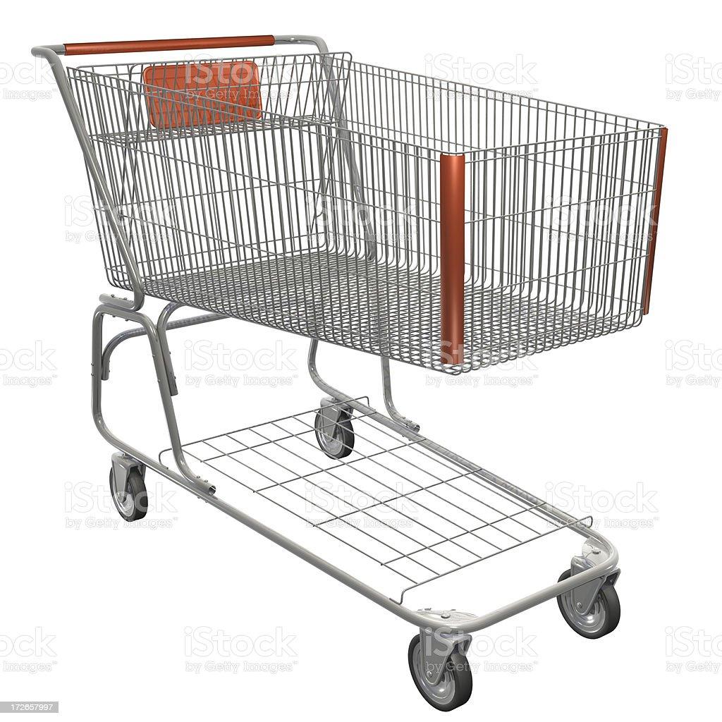 3 D ショッピングカート ロイヤリティフリーストックフォト