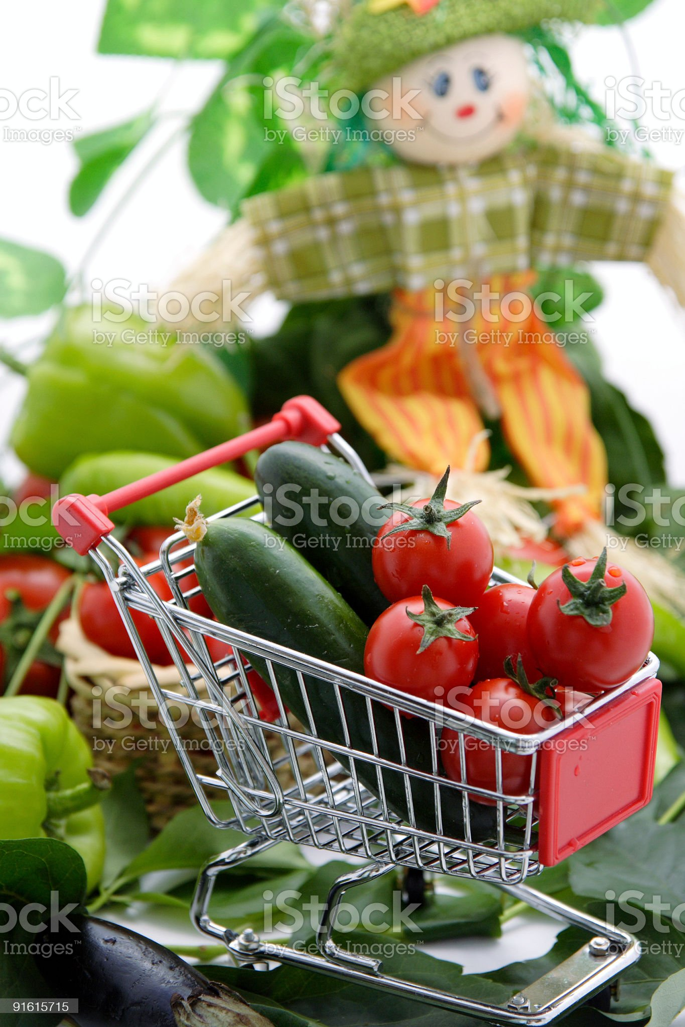 Shopping cart royalty-free stock photo