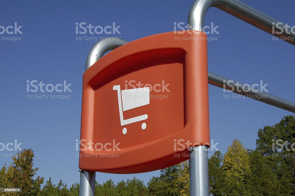 Shopping Cart Return stock photo