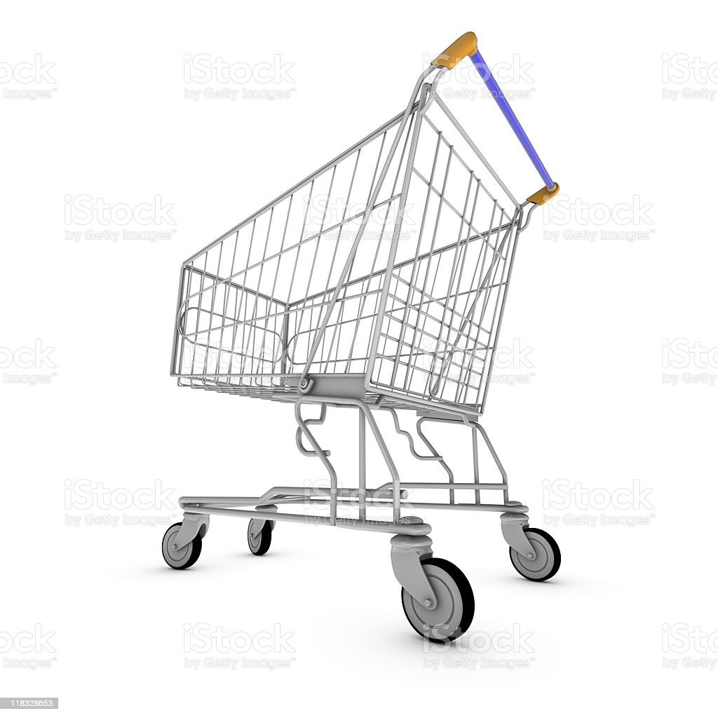 Shopping cart side view royalty-free stock photo