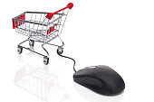Shopping Cart with computer mouse