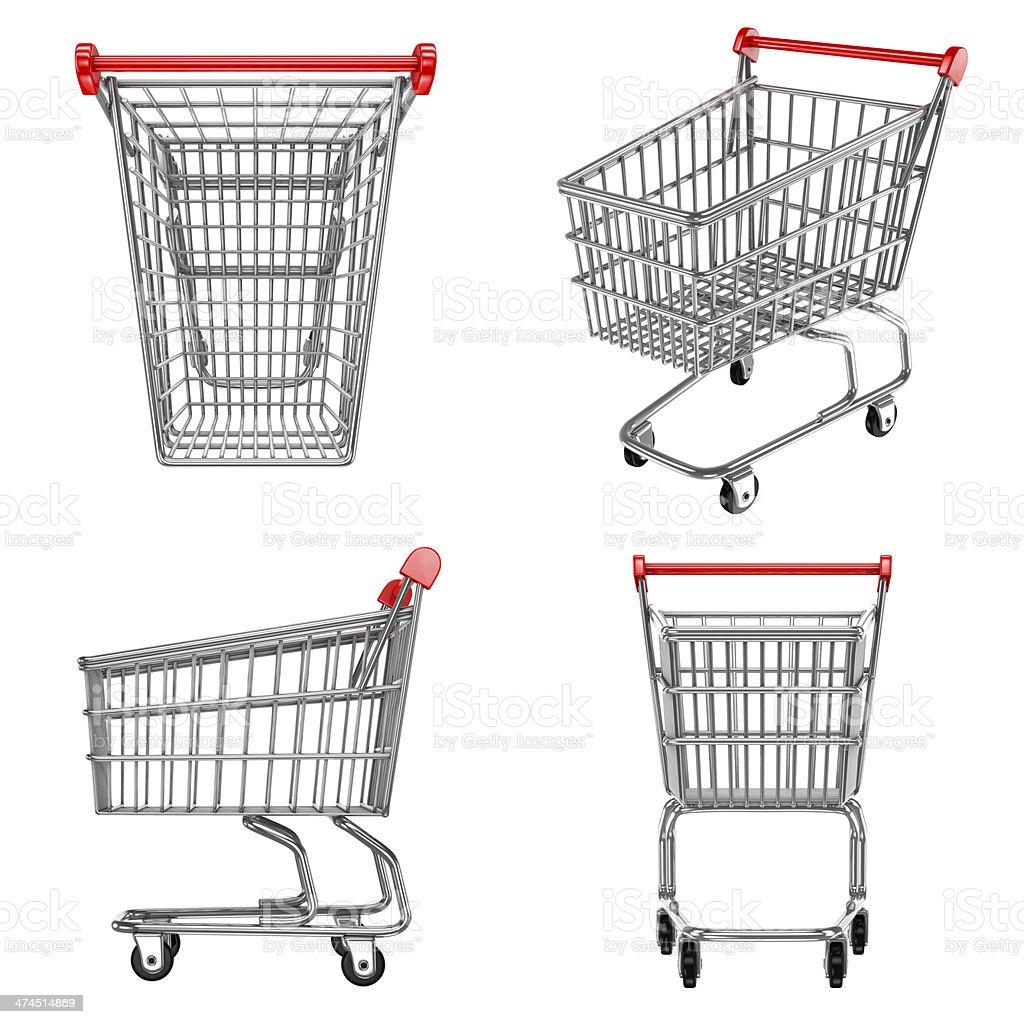 shopping carts icons stock photo