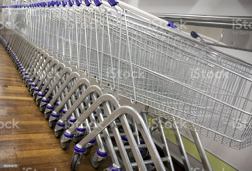 Shopping carts royalty-free stock photo