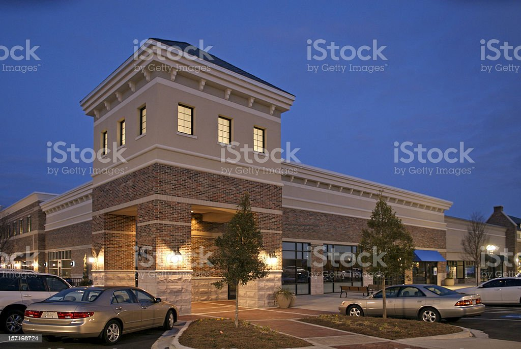 Shopping Center at Night royalty-free stock photo