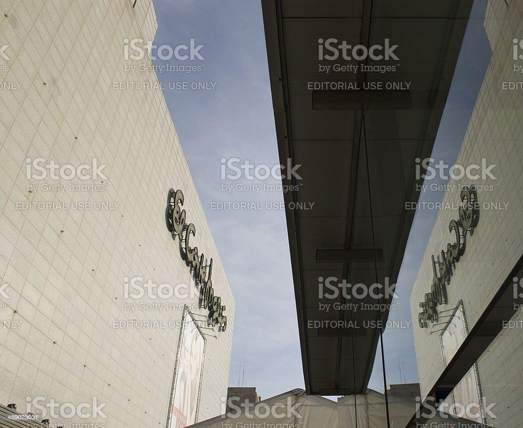 Shopping center El Corte Ingles royalty-free stock photo