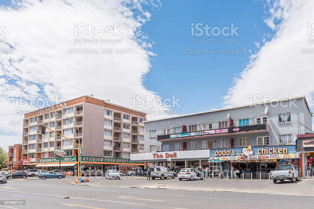 Shopping centre in Willows, a suburb of Bloemfontein stock photo