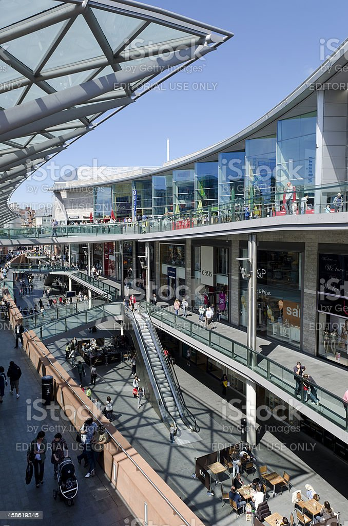 Shopping centre, Liverpool royalty-free stock photo