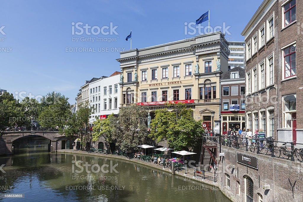 Shopping centre  Utrecht, fourth city of the Netherlands royalty-free stock photo