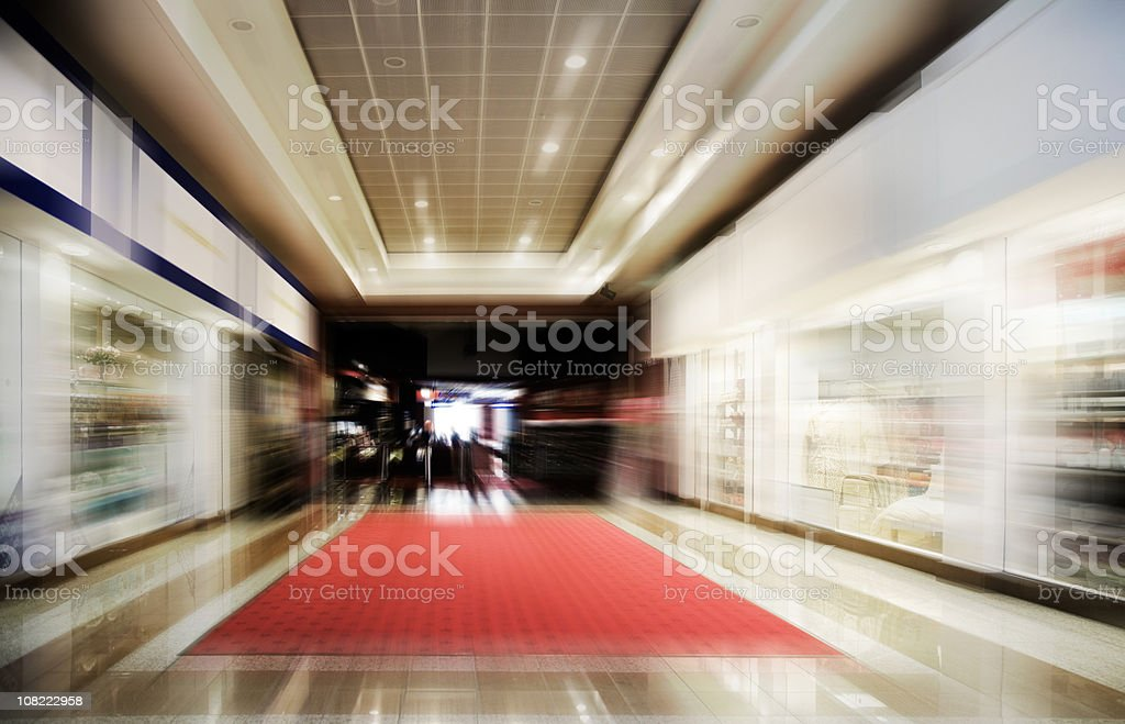 Shopping Centre-Motion Blurred-More in Lightboxes Below stock photo