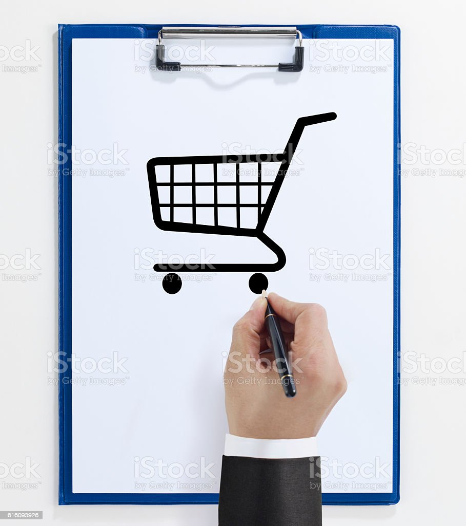 Shopping chart stock photo
