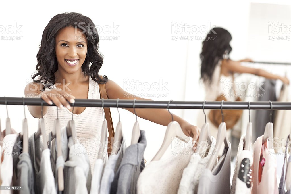 Shopping clothes. royalty-free stock photo
