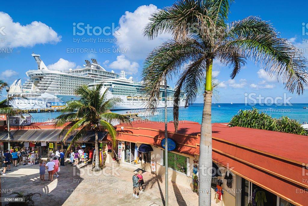 Shopping Cozumel stock photo