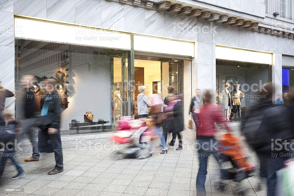 Shopping Crowd royalty-free stock photo