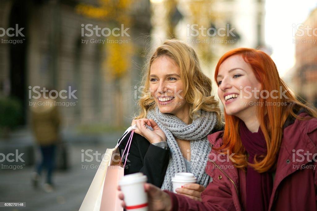 Shopping day. stock photo
