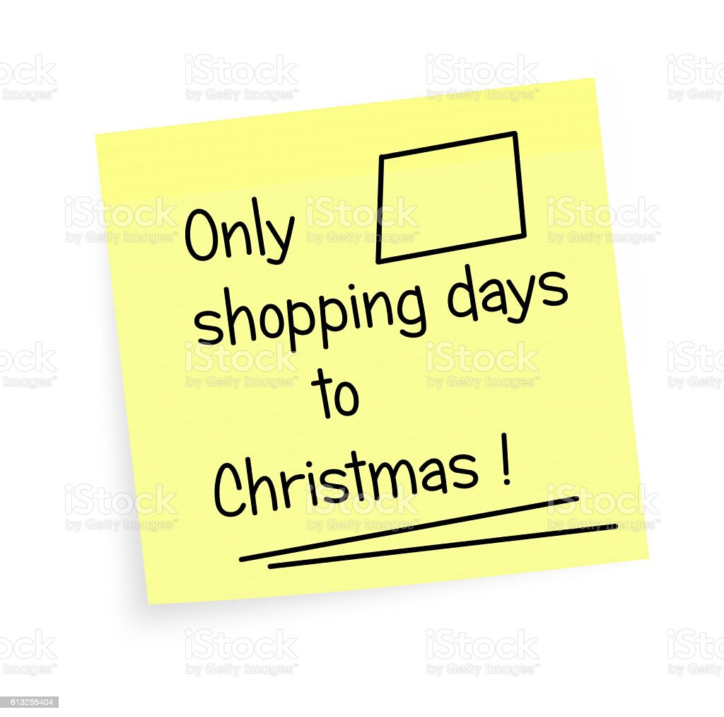 Shopping days to Christmas - reminder stock photo