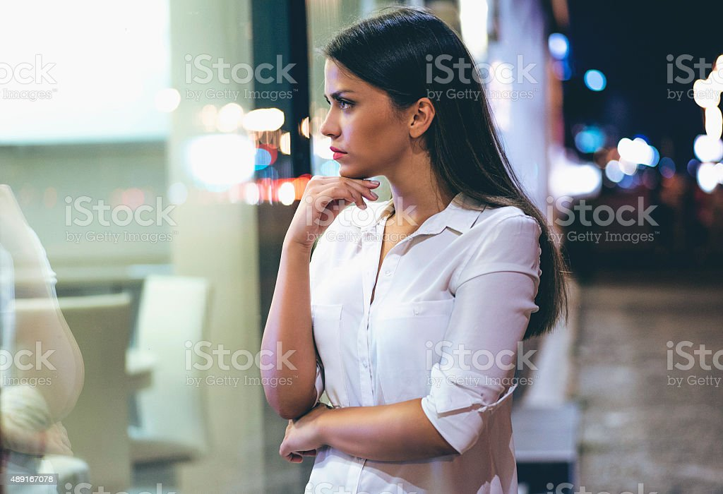 Shopping decisions stock photo