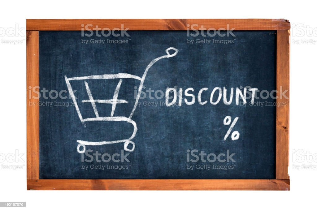 shopping discount sign stock photo