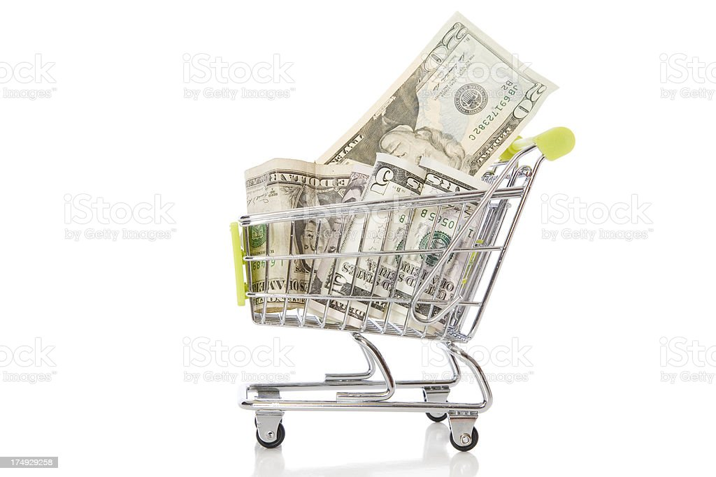Shopping Dollar royalty-free stock photo