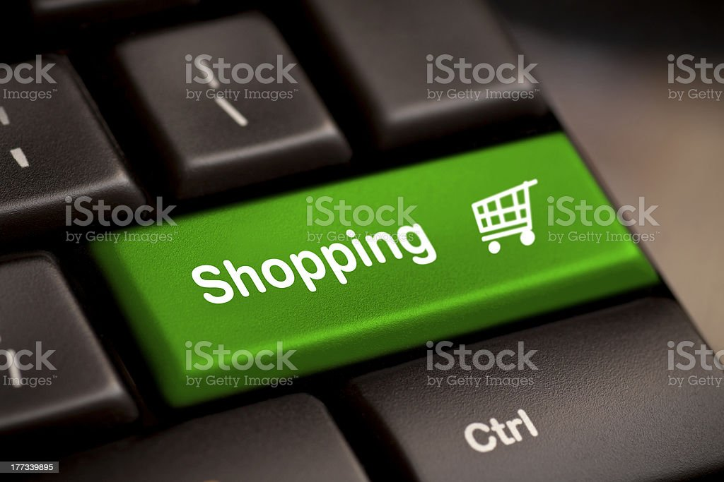 shopping enter key royalty-free stock photo