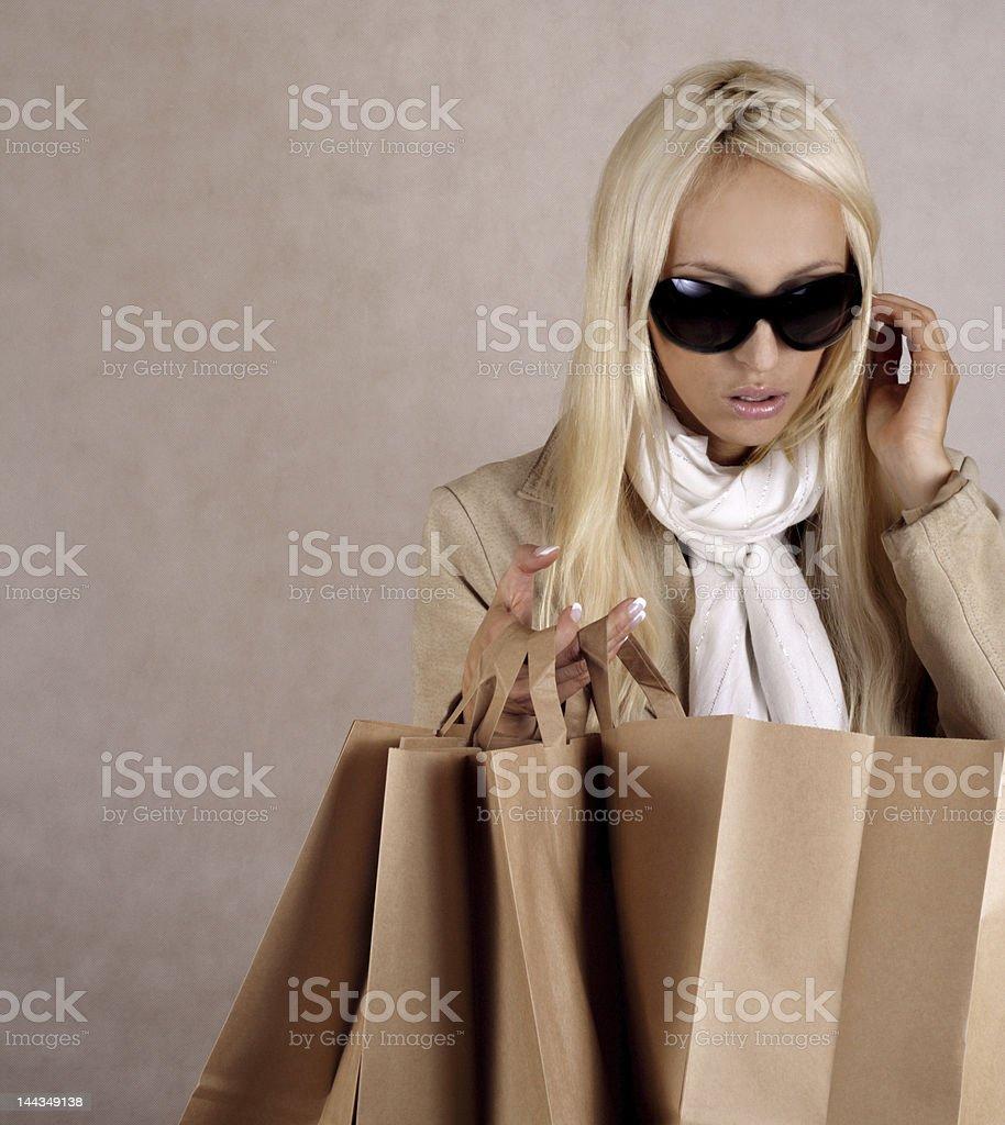 shopping euphoria royalty-free stock photo