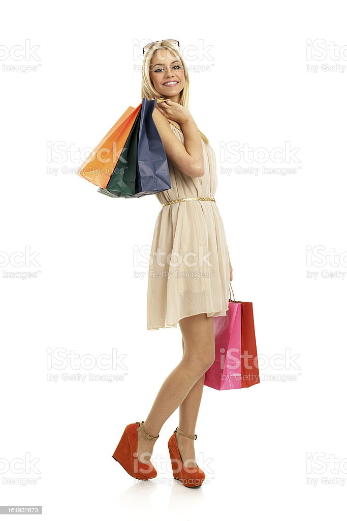 Shopping female royalty-free stock photo