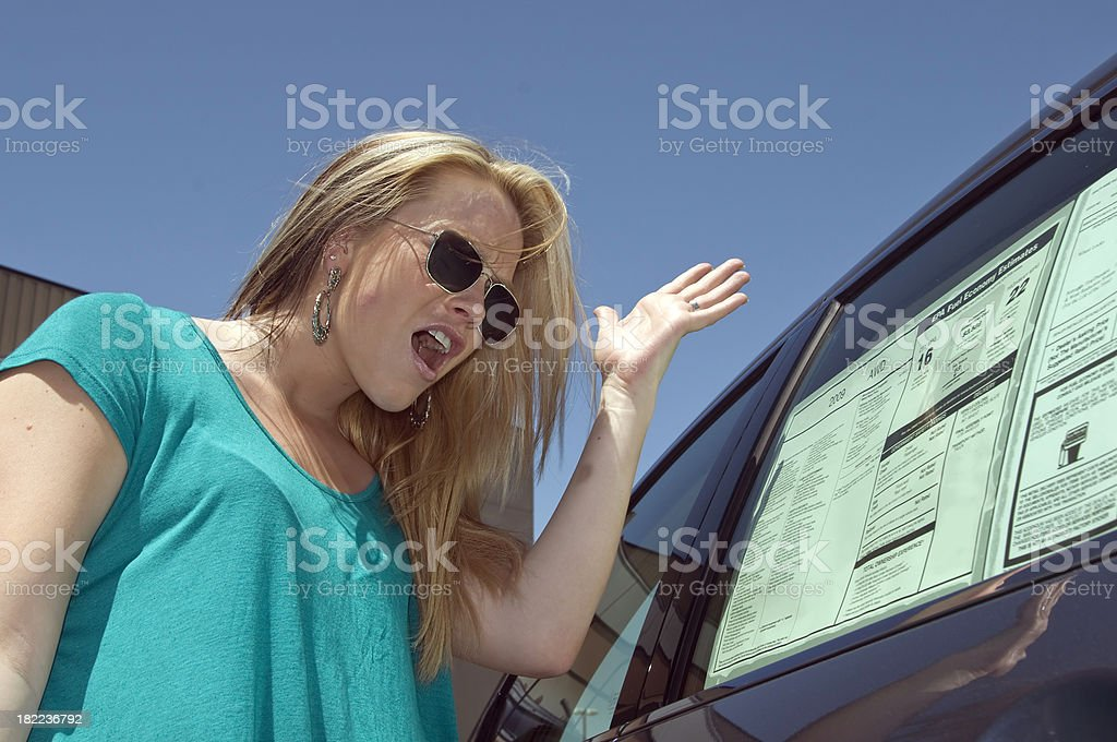 Shopping for a new car. royalty-free stock photo