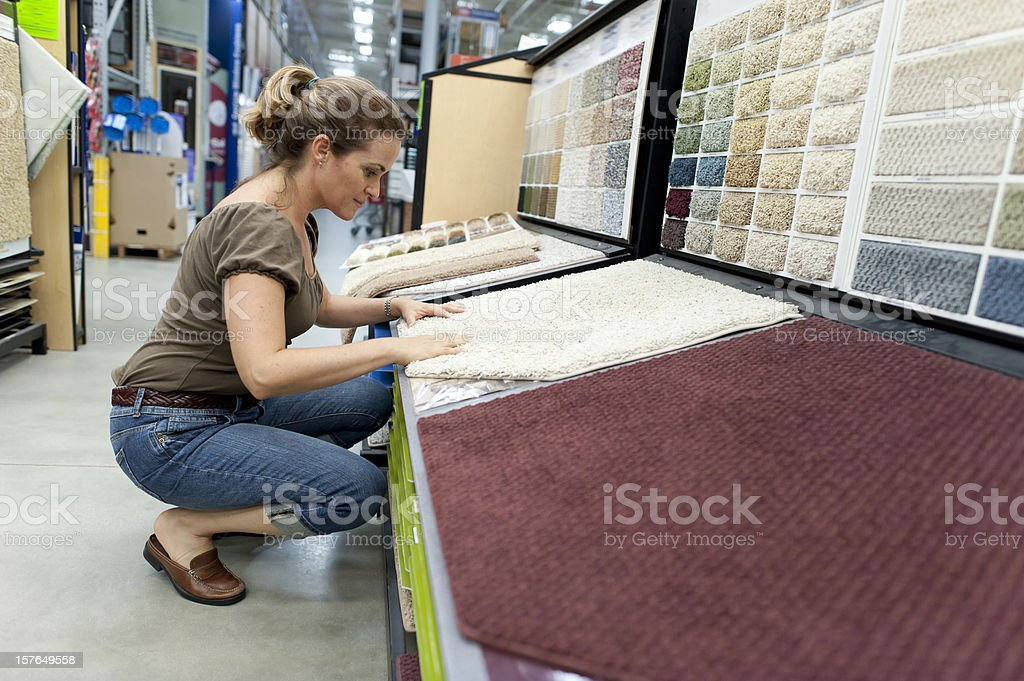 Shopping for a new carpet royalty-free stock photo