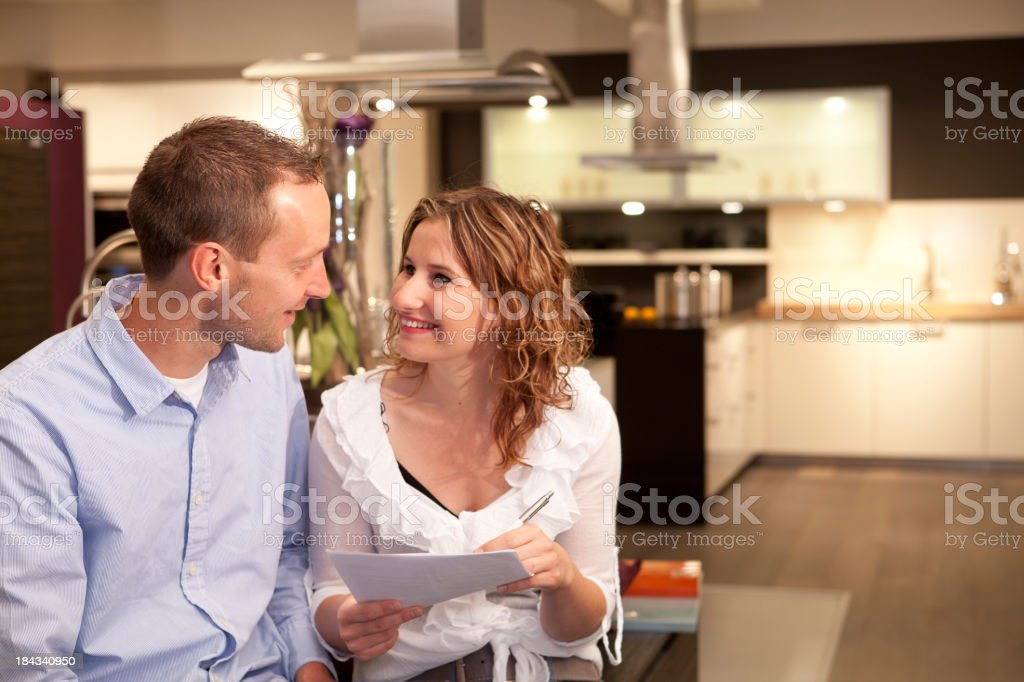 Shopping for a new kitchen in hardwarestore. royalty-free stock photo