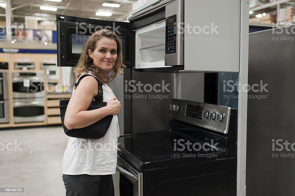 shopping for a new kitchen royalty-free stock photo
