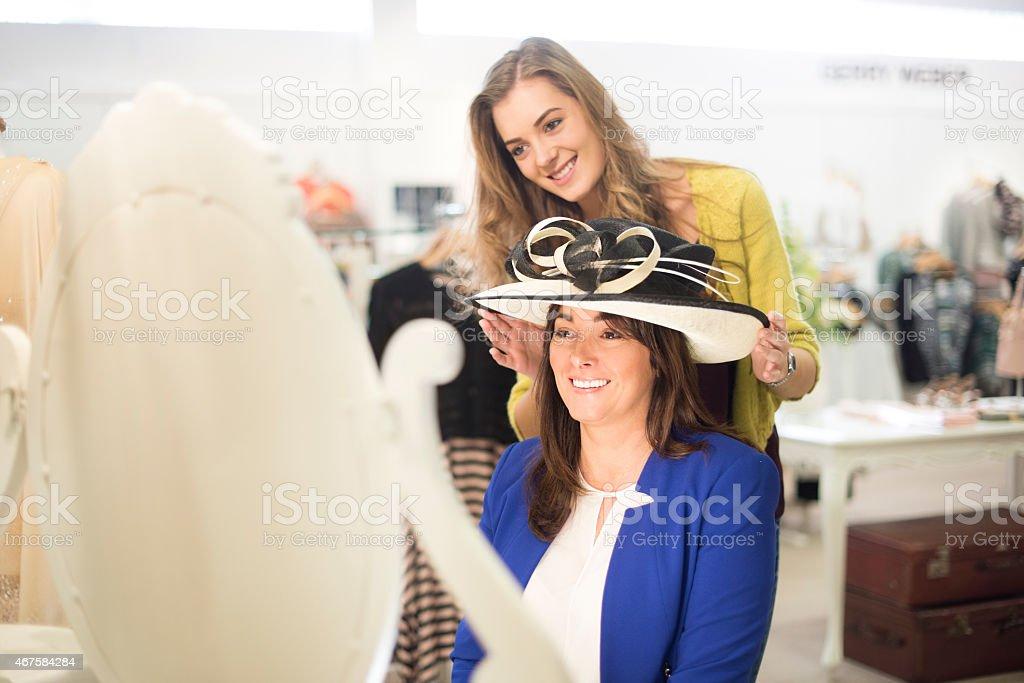 shopping for a wedding stock photo