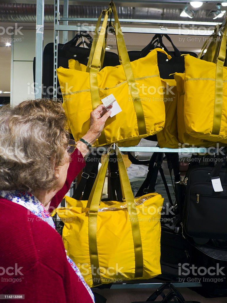 Shopping for bags royalty-free stock photo