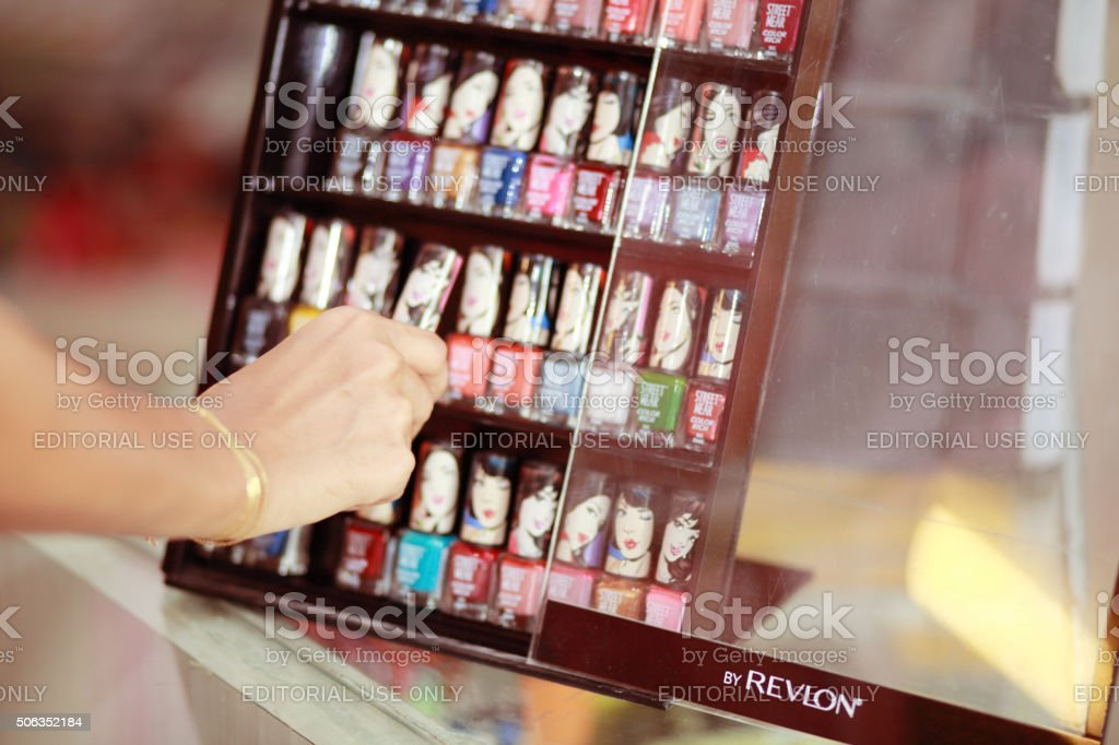 Shopping for Beauty Products stock photo
