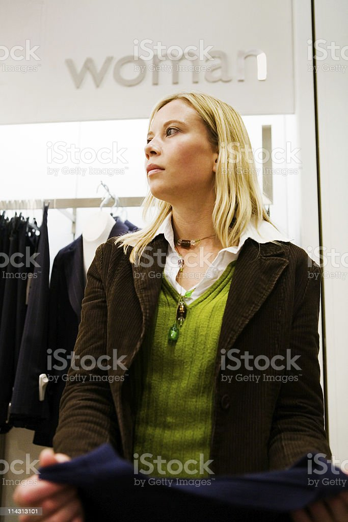 Shopping for clothes royalty-free stock photo