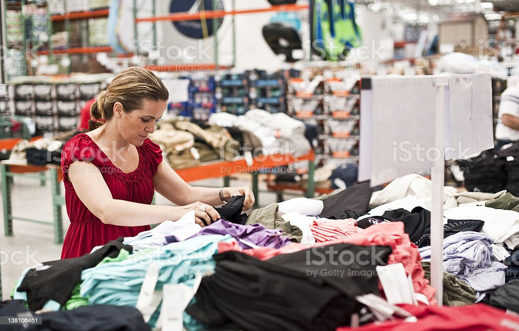 shopping for clothes stock photo royalty-free stock photo