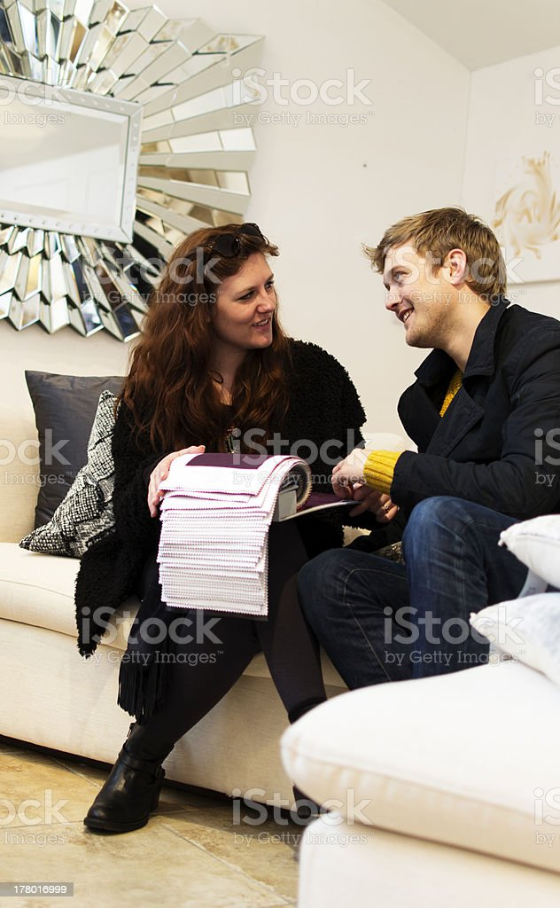 Shopping for furniture royalty-free stock photo