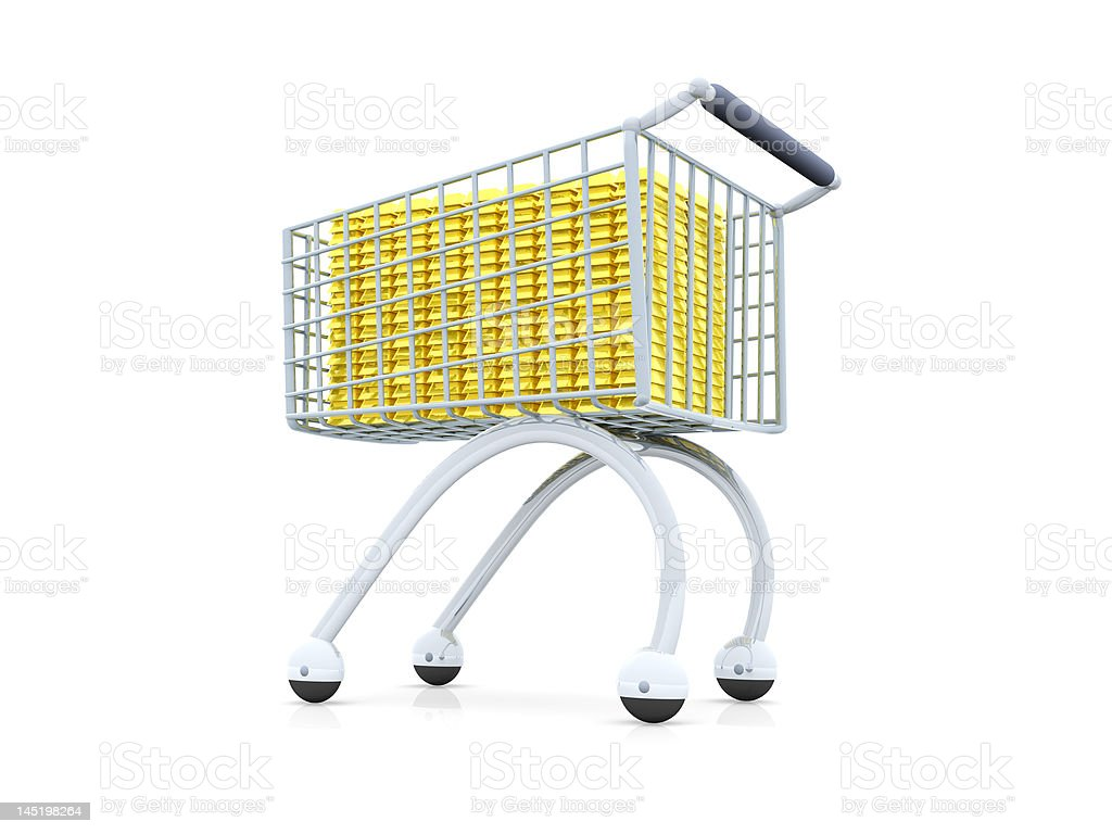 Shopping for Gold royalty-free stock photo
