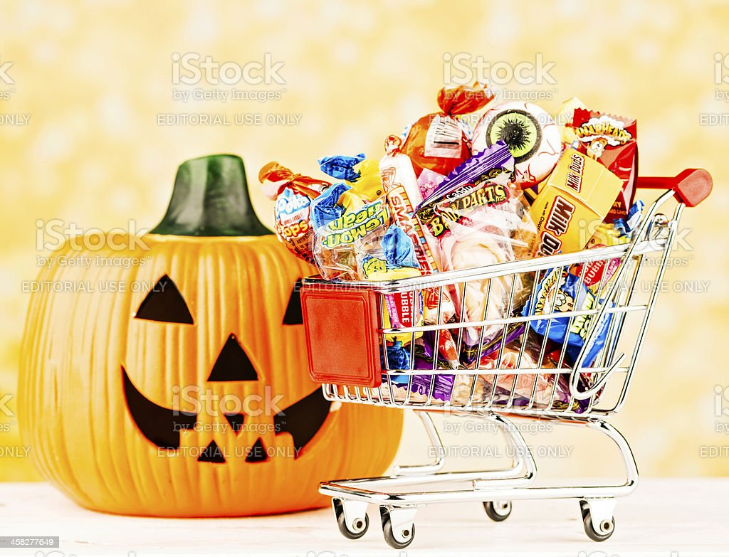 Shopping for Halloween Candy royalty-free stock photo