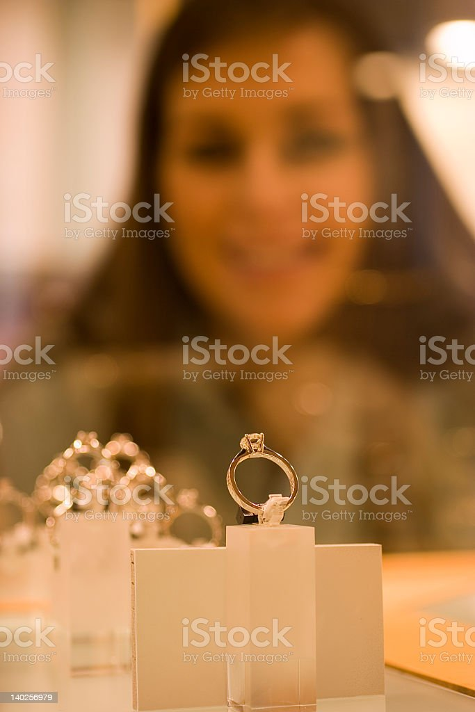 Shopping for jewellery royalty-free stock photo