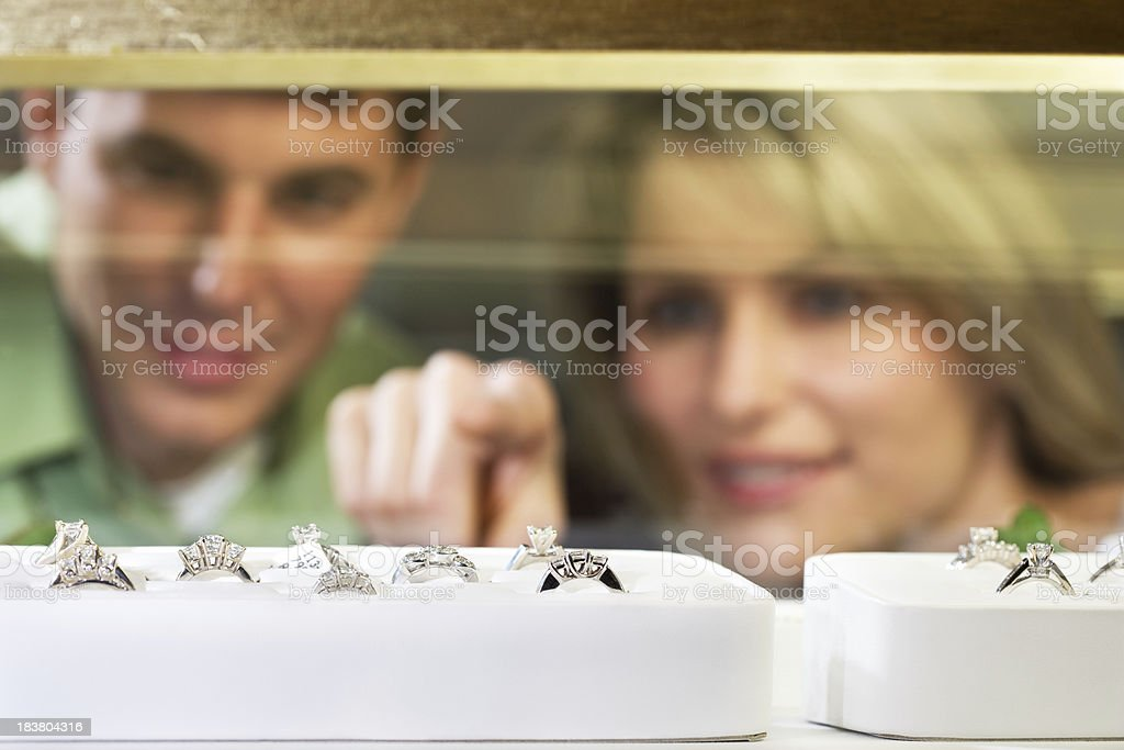 shopping for Jewelry stock photo