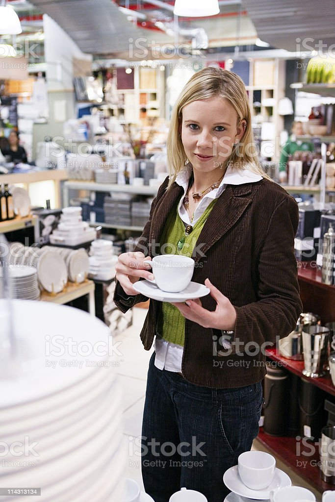 Shopping for kitchenware royalty-free stock photo
