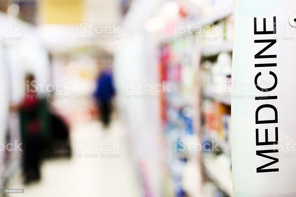 Shopping for medicine stock photo