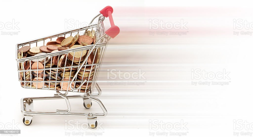Shopping for Money 02 royalty-free stock photo