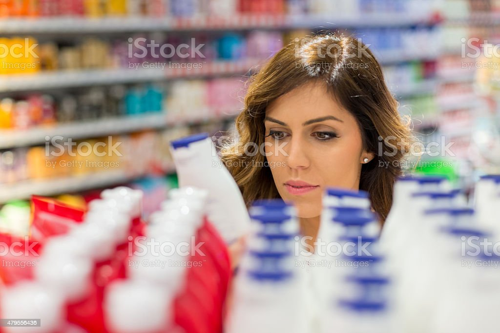 Shopping for perfect moisturizer stock photo