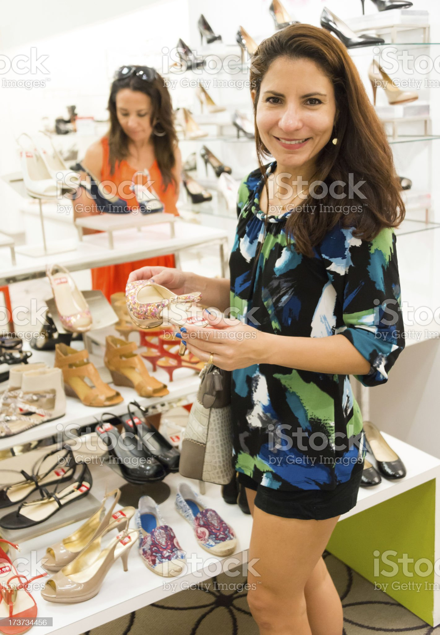 Shopping for shoes royalty-free stock photo