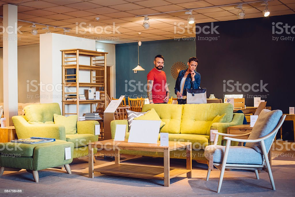 Shopping for the New Home stock photo