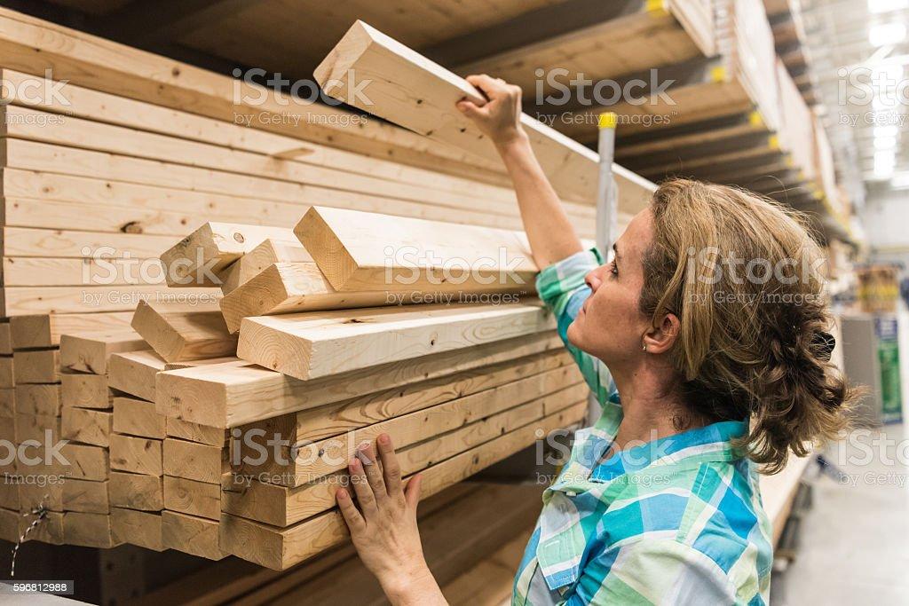 shopping for timber/lumber stock photo