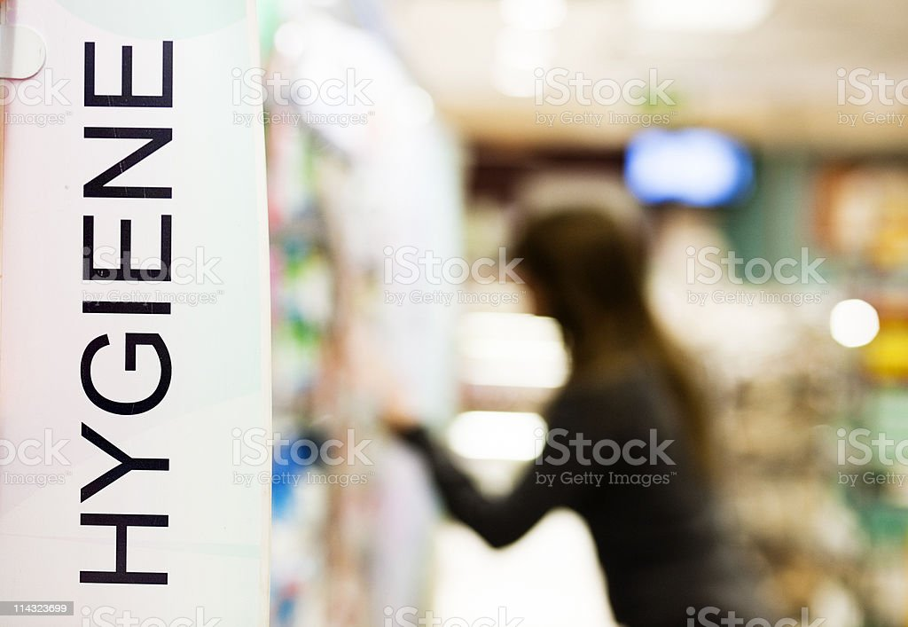Shopping for toiletries stock photo