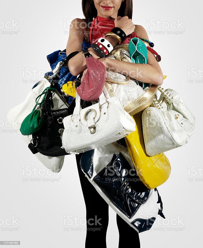 Shopping freak stock photo
